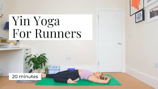 YIN YOGA FOR RUNNERS | 20 mins || KATIE SILVER