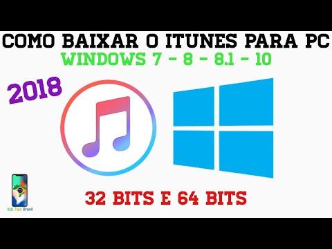 COMO BAIXAR/INSTALAR O ITUNES PARA PC - WINDOWS 7/8/8 1/10/10 S (32
