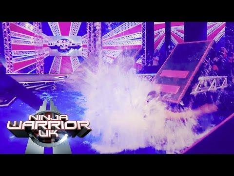 Ninja Warrior UK 2015 Crazy Splashdown Compilation | Ninja Warrior UK