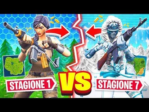 STAGIONE 1 vs STAGIONE 7 di FORTNITE! *ASSURDO* | Fortnite Challenge ITA