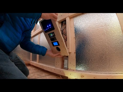 Building A Tiny Portable Cabin / Solar Ice Hut - Episode #6 ( Electrical )