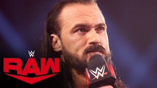 Drew McIntyre is out for redemption against Bobby Lashley at WrestleMania: Raw, Apr. 5, 2021