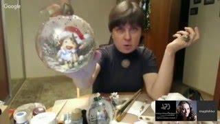 """#МК Магдалины Соловьёвой """"Рождественские 3D шары"""". Ручная работа"""