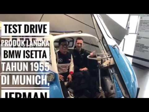 Test drive mobil langka BMW Isetta di BMW Welt, Munich, Jerman