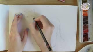 Техника рисования акварелью по мокрому.  Видео поэтапного рисования акварелью для начинающих