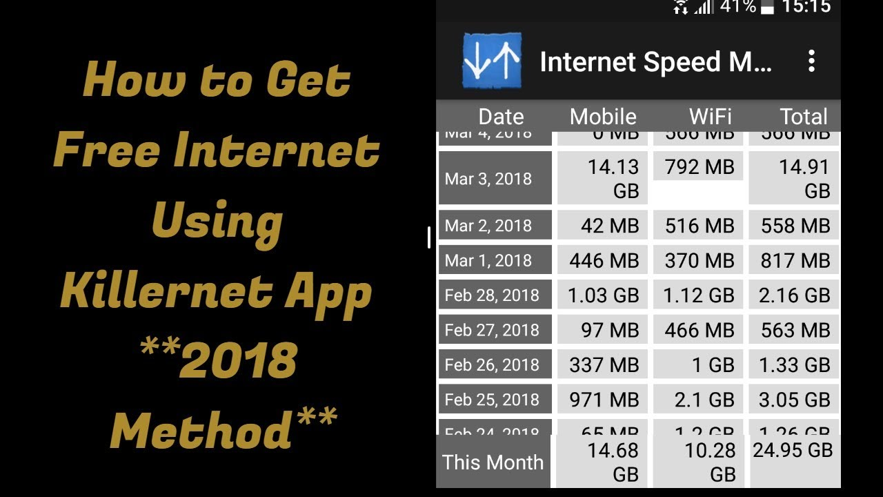 How to Get Free Internet Using Killernet App **2018 Method**