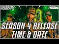 WARZONE SEASON 4 RELEASE REVEALED - Infinity Ward Releases Time For New Update