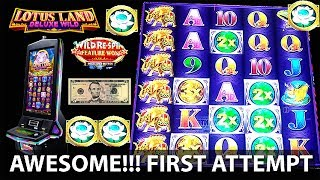 Video New!! ( First Attempt ) Lotus Land Deluxe Wild by Konami 6 Awsome!! Bonuses on a $5 Investmet download MP3, 3GP, MP4, WEBM, AVI, FLV Juli 2018