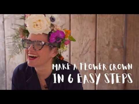 Make a flower crown in six easy steps