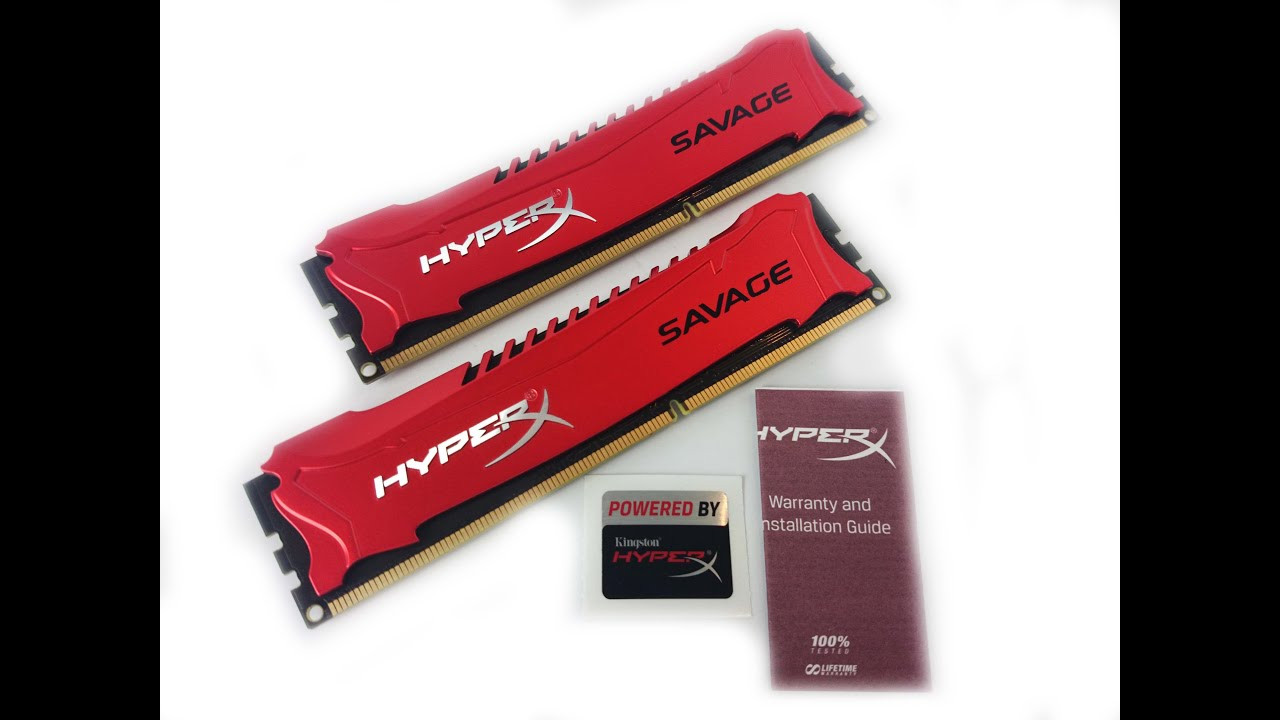 Memorie HyperX Savage 8GB DDR3 1600MHz CL9 Dual Channel Kit - YouTube