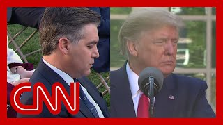 Acosta reads Trump his past remarks downplaying virus
