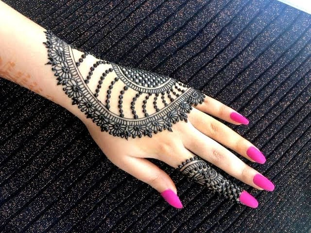 Beautiful stylish girly henna jewellery simple easy party mehndi design for hands for eid 2019