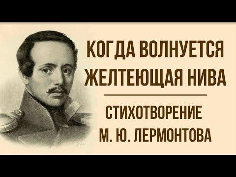 «Когда волнуется желтеющая нива» М. Лермонтов. Анализ стихотворения