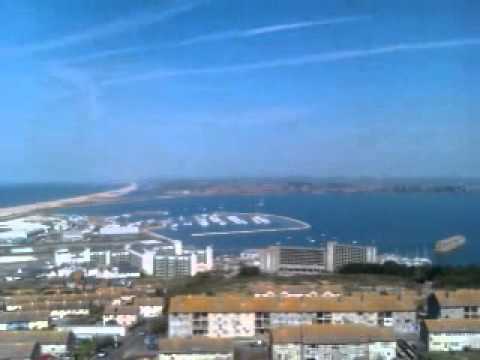 The Fleet, Portland Harbour and Weymouth Bay from Portland, Jurassic Coast, Dorset, UK
