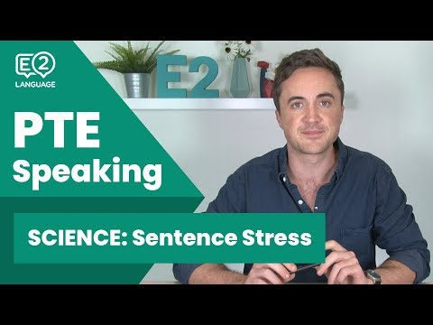 PTE Speaking SCIENCE: Sentence Stress! #E2Tasks with Jay!