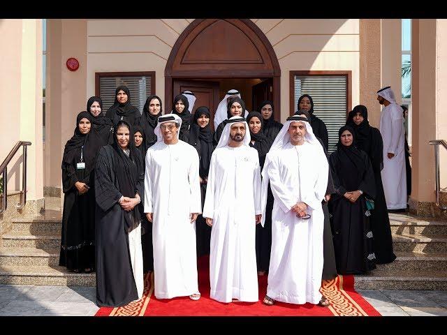 محمد بن راشد يزور مقر الاتحاد النسائي العام