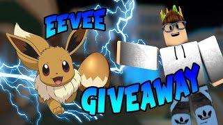Eevee Giveaway On Pokemon Brick Bronze! Pokemon Brick Bronze, Jailbreak, Roblox Deathrun #ROADTO4K