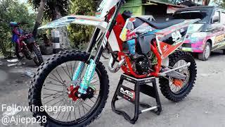 Ninja r 2tak dirubah menjadi motocross,trail grasstrack