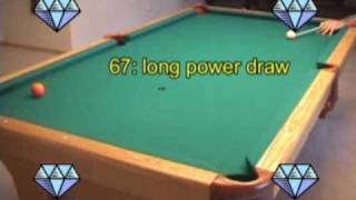 Pool and billiards power draw (backspin, screw-back) shot technique advice from VEPS-I (NV B.65)