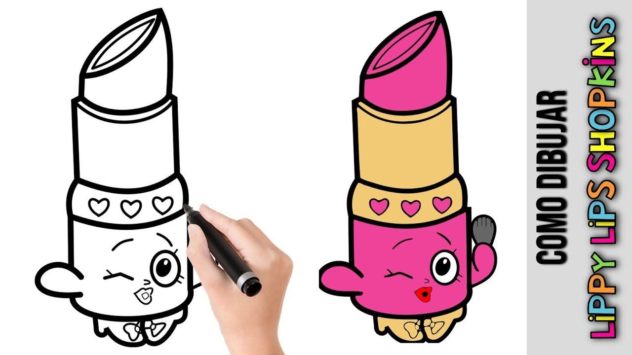 Como Dibujar Lippy Lips Shopinks Dibujos Fáciles Para Dibujar