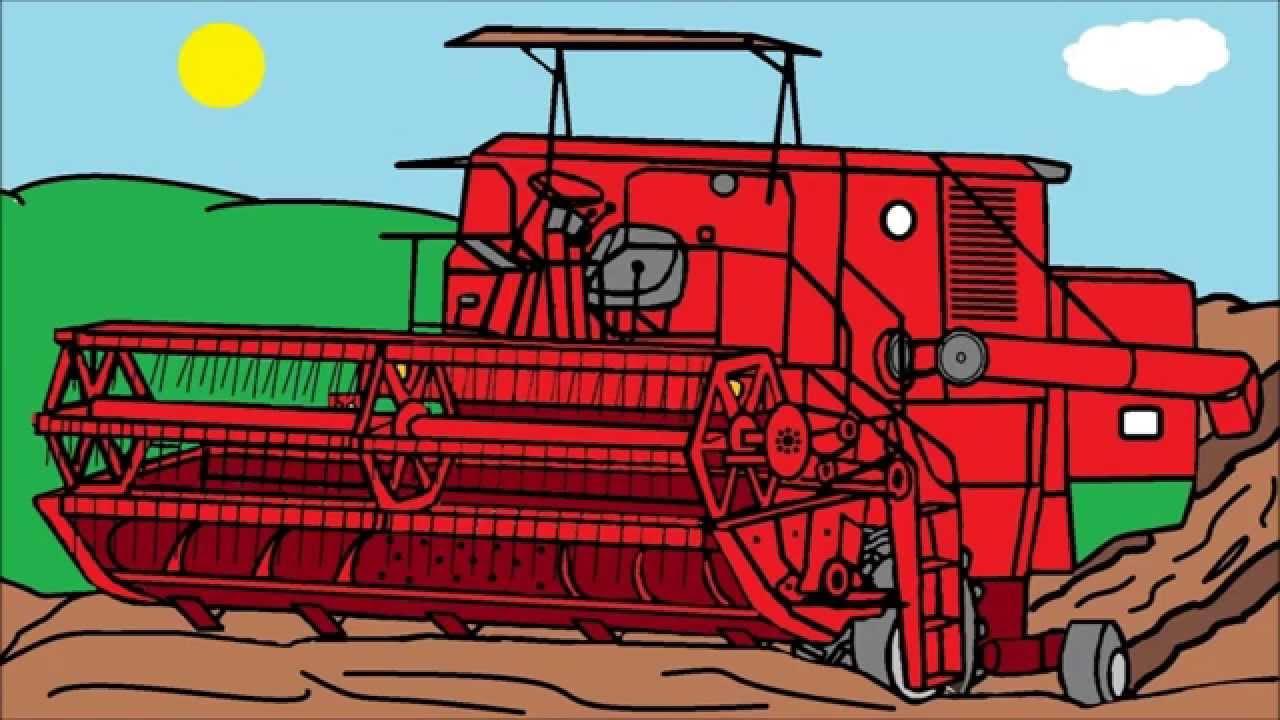 Moje Rysunki W Paincie Maszyny Rolnicze Cz2 Youtube