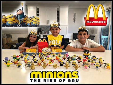 MINIONS The Rise Of Gru Movie MCDONALDS Happy Meal Toys! ALL 48 TOYS! June 2020