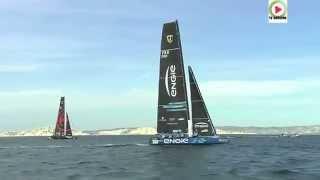 Marseille: Le Catamaran-volant GC32 ENGIE - Marseille Bretagne Télé
