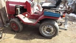 Міні-трактор т-010 кмз-012 налаштування, підготовка до весняного фрезеруванню ( подробиці в описі)
