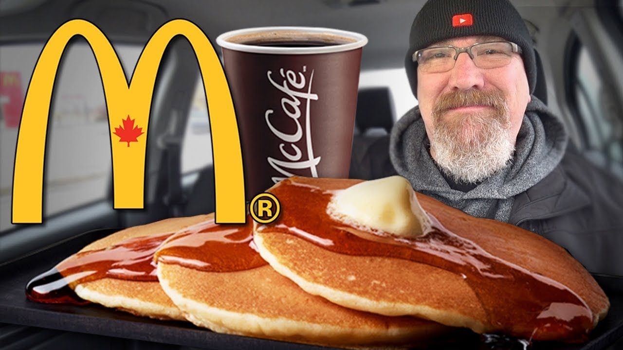 McDonald's Breakfast ???? Hotcakes & Sausage and McCafé Coffee ☕