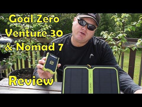 Review: Goal Zero Venture 30 Solar Recharging Kit, & Nomad 7 Plus Solar Panel