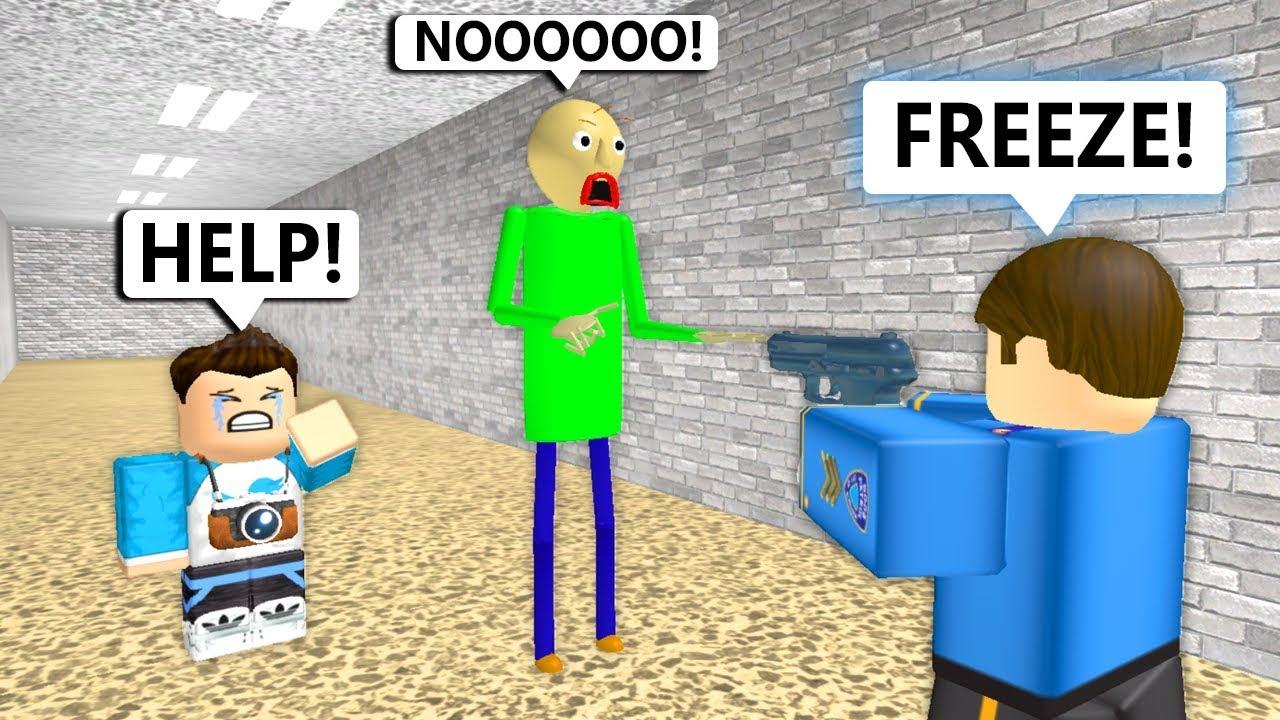 Baldi Goes To Prison Roblox Animation Youtube