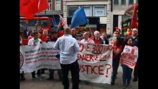 IWW (cleaners branch) demonstracja o płace LONDYN 23-06-2012