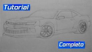 Como desenhar o Camaro SS 2015 (Fernando)/How to draw the Camaro SS 2015