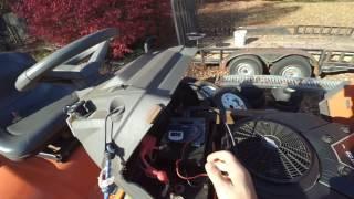 Riding mower wont crank, electrical troubleshooting repair Video