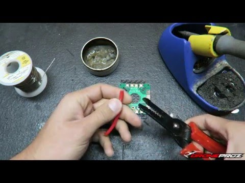 "Learning to solder FPV Racers 101 ""How to"""