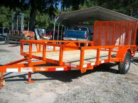 6x12 Utility.atv Trailer Kabota Orange Deluxe With LED Lights And Tubing
