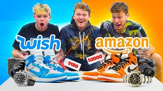 WISH vs AMAZON Challenge with Jesser & Moochie!