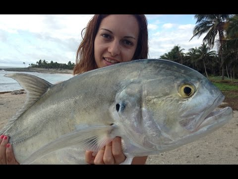 Riviera Maya Spinning Shore Fishing Popping GT Grand Sirenis Riviera Maya Pesca Costa