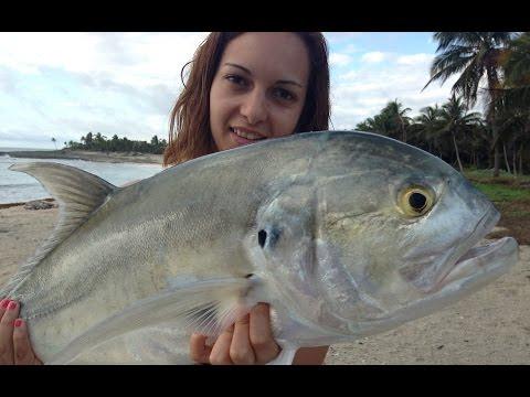 Riviera Maya Spinning Shore Fishing Popping GT Grand Sirenis Riviera Maya Pesca Costa