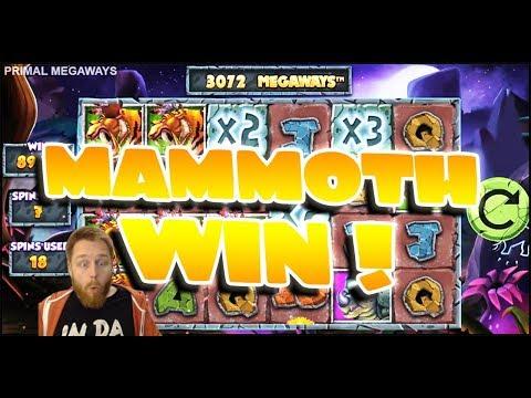 Primal Megaways Mammoth Win!!!