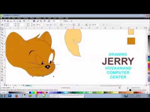 drawing a cartoon corelDRAW