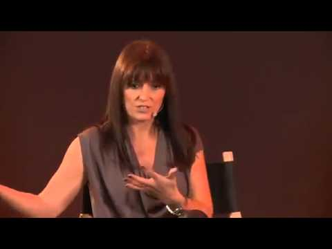 Davina McCall Workout Interview in Leather Trousers
