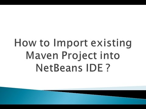 How to Import existing Maven Project into NetBeans IDE
