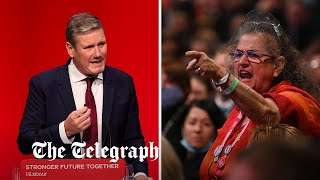 video: Labour Party conference latest: Keir Starmer is heckled by hard-Left as he distances party from Corbyn era