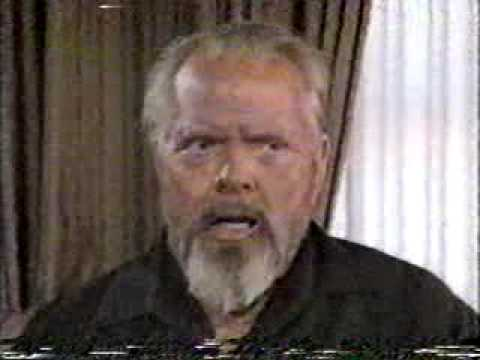 Orson Welles, 8 days before his death 1985