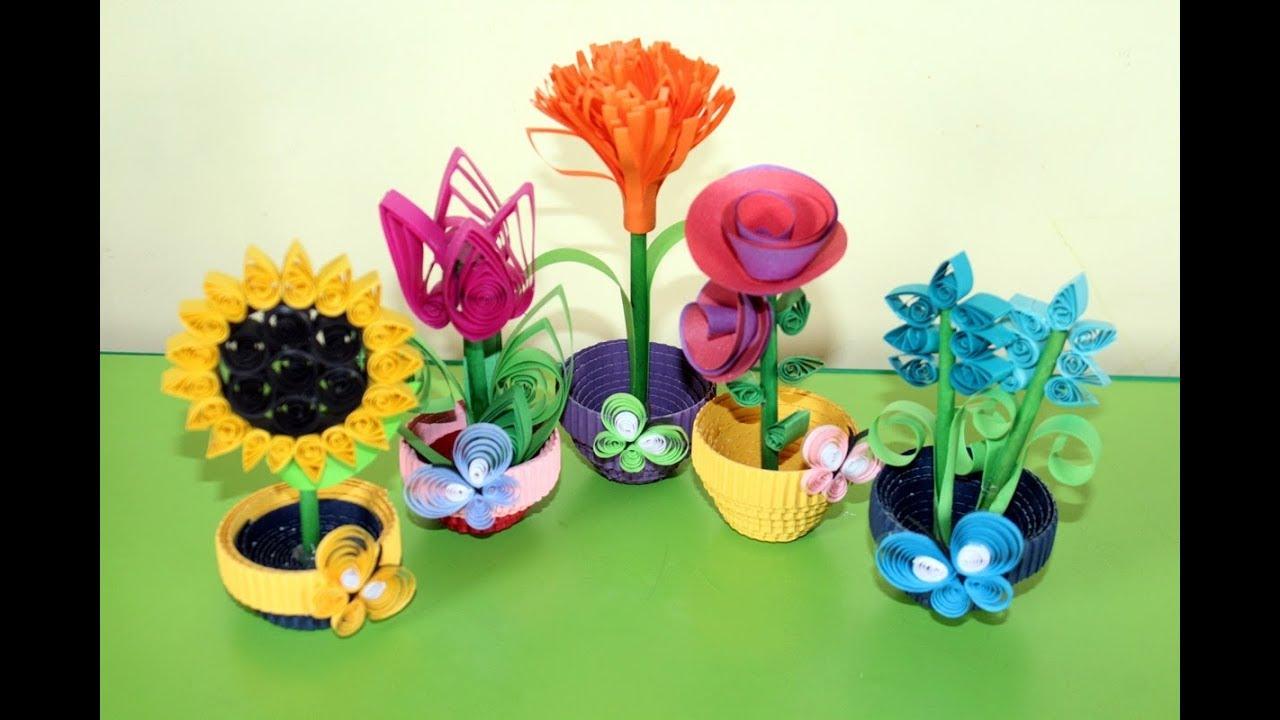 Kwiatki Quillig 3d 3d Quilled Flowers Flower Crafts Spring Crafts Crafts