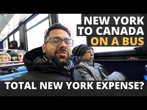 New York to Canada in Bus – Crossing International Border – How much $$ we spent on New York Trip
