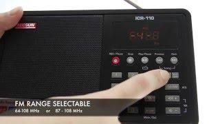 TECSUN ICR-110 AM/FM-радіо / диктофон / аудіоплеєр