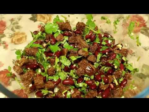 Салат с фасолью по-грузински (постный)/ Salad with beans