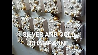Making cold process soap- Silver And Gold Champagne